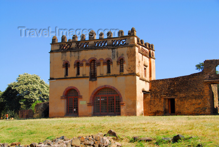 ethiopia301: Gondar, Amhara Region, Ethiopia: Royal Enclosure - Yohannes Library - restored by Mussolini's army - photo by M.Torres - (c) Travel-Images.com - Stock Photography agency - Image Bank