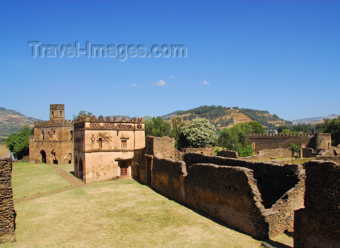 ethiopia305: Gondar, Amhara Region, Ethiopia: Royal Enclosure - Yohannes Library and the Fassil Ghebi complex - photo by M.Torres - (c) Travel-Images.com - Stock Photography agency - Image Bank