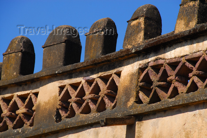 ethiopia306: Gondar, Amhara Region, Ethiopia: Royal Enclosure - Yohannes Library - battlement - merlons - photo by M.Torres - (c) Travel-Images.com - Stock Photography agency - Image Bank