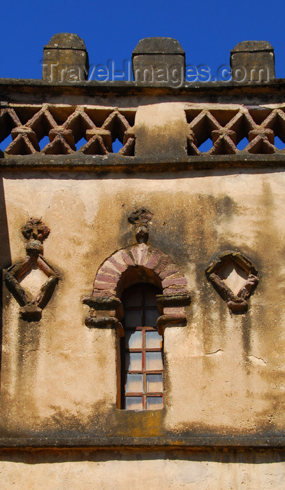 ethiopia308: Gondar, Amhara Region, Ethiopia: Royal Enclosure - Yohannes Library - window with tuff arch - photo by M.Torres - (c) Travel-Images.com - Stock Photography agency - Image Bank