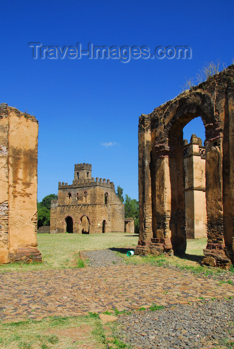 ethiopia312: Gondar, Amhara Region, Ethiopia: Royal Enclosure - arch and Fasiladas' archive - UNESCO world heritage site - photo by M.Torres - (c) Travel-Images.com - Stock Photography agency - Image Bank