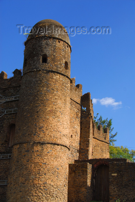 ethiopia318: Gondar, Amhara Region, Ethiopia: Royal Enclosure -  Ras gate near Mentewab's castle - photo by M.Torres - (c) Travel-Images.com - Stock Photography agency - Image Bank