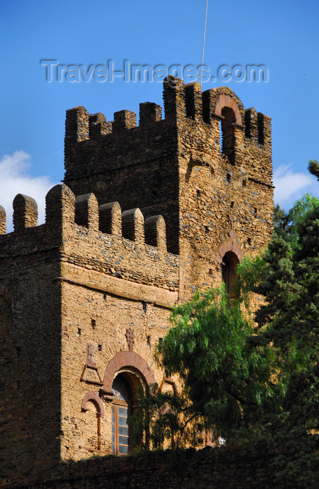ethiopia321: Gondar, Amhara Region, Ethiopia: Royal Enclosure - Mantewab's castle, seen from outside the walls - photo by M.Torres - (c) Travel-Images.com - Stock Photography agency - Image Bank