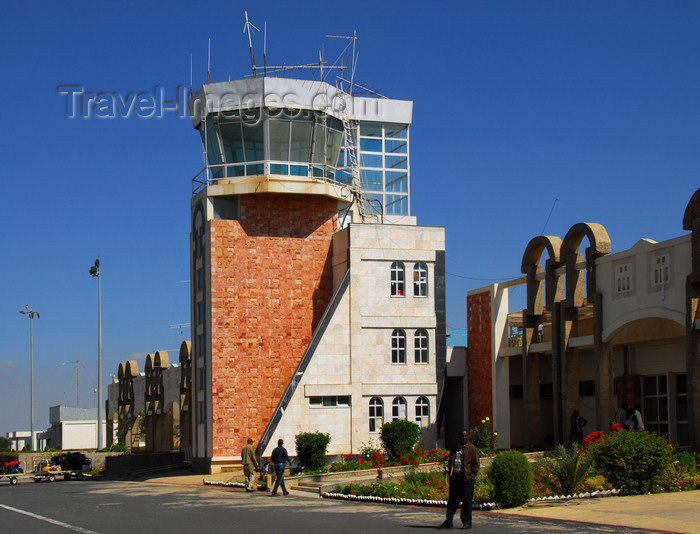ethiopia323: Axum - Mehakelegnaw Zone, Tigray Region: Axum Yohannes IV Airport control tower - IATA: AXU, ICAO: HAAX - photo by M.Torres - (c) Travel-Images.com - Stock Photography agency - Image Bank
