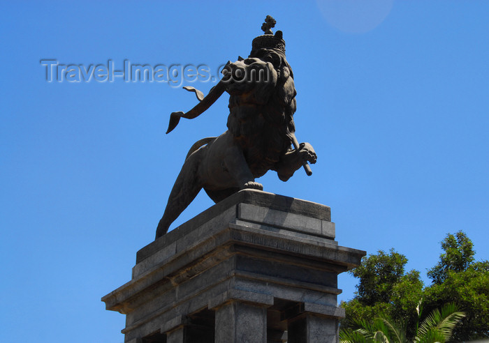 ethiopia34: Addis Ababa, Ethiopia: Lion of Judah monument - Anbessa square - photo by M.Torres - (c) Travel-Images.com - Stock Photography agency - Image Bank