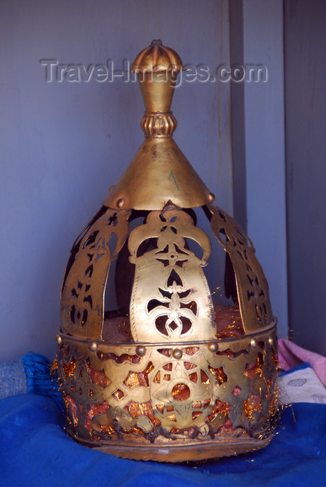 ethiopia341: Axum - Mehakelegnaw Zone, Tigray Region: St Mary of Zion Museum - crown worn by Axums' kings - photo by M.Torres - (c) Travel-Images.com - Stock Photography agency - Image Bank