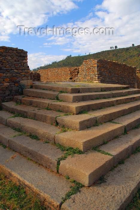 ethiopia349: Axum - Mehakelegnaw Zone, Tigray Region: Dungur / Dongour - Queen of Sheba's palace - steps - photo by M.Torres - (c) Travel-Images.com - Stock Photography agency - Image Bank