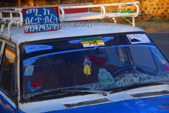 ethiopia353: Axum - Mehakelegnaw Zone, Tigray Region: taxi detail - photo by M.Torres - (c) Travel-Images.com - Stock Photography agency - Image Bank