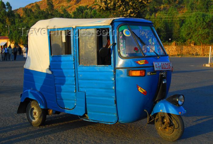 ethiopia357: Axum - Mehakelegnaw Zone, Tigray Region: Bajaj three-wheeler - auto rickshaw - tuk-tuk - photo by M.Torres - (c) Travel-Images.com - Stock Photography agency - Image Bank