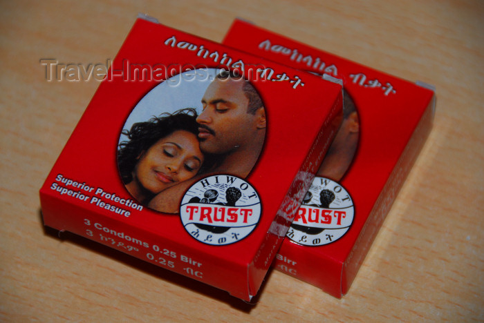 ethiopia359: Axum - Mehakelegnaw Zone, Tigray Region: Hotel Remhai - Ethiopian condoms - prophylactics are standard issue in Ethiopian hotels - photo by M.Torres - (c) Travel-Images.com - Stock Photography agency - Image Bank