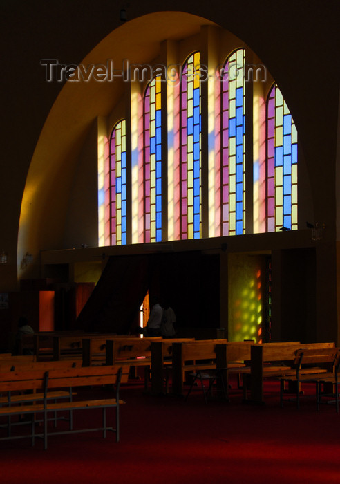 ethiopia363: Axum - Mehakelegnaw Zone, Tigray Region: Church of St Mary of Zion - light and pews - photo by M.Torres - (c) Travel-Images.com - Stock Photography agency - Image Bank