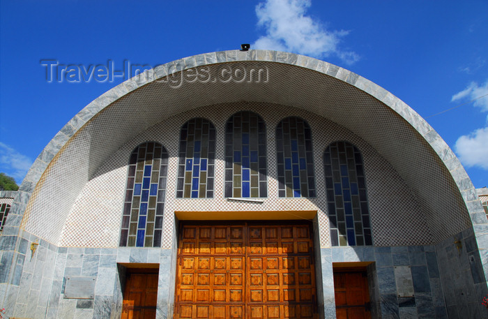 ethiopia366: Axum - Mehakelegnaw Zone, Tigray Region: Church of St Mary of Zion - entrance - photo by M.Torres - (c) Travel-Images.com - Stock Photography agency - Image Bank