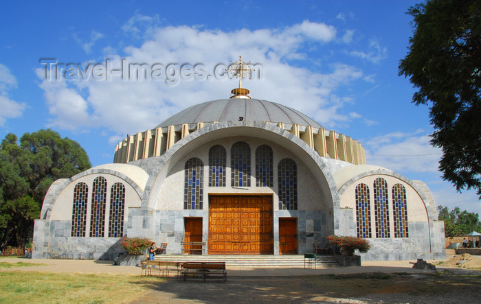 ethiopia368: Axum - Mehakelegnaw Zone, Tigray Region: Church of St Mary of Zion - Tsion Maryam - inspired in Constantinople's Hagia Sophia - photo by M.Torres - (c) Travel-Images.com - Stock Photography agency - Image Bank