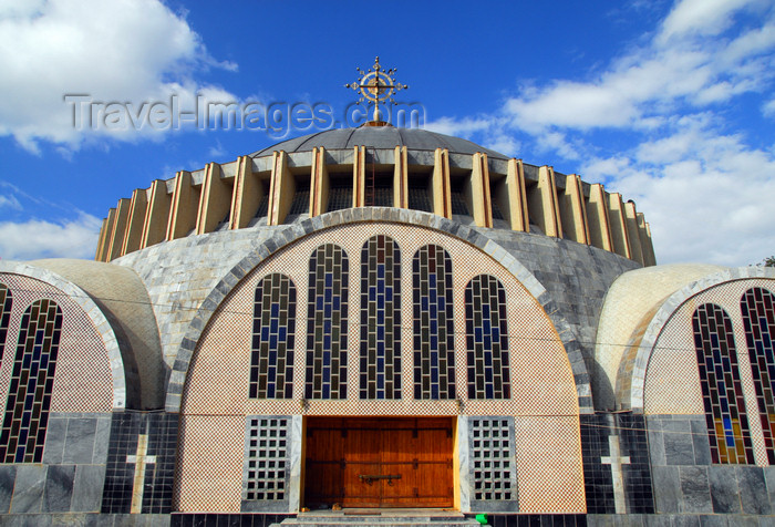 ethiopia375: Axum / Aksum - Mehakelegnaw Zone, Tigray Region: Church of St Mary of Zion - Haile Selassie imitates Justinian - south facade - photo by M.Torres - (c) Travel-Images.com - Stock Photography agency - Image Bank