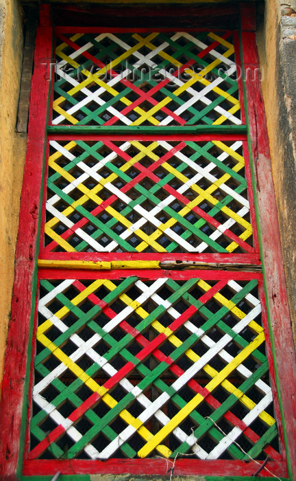 ethiopia378: Axum - Mehakelegnaw Zone, Tigray Region: Old Church of St Mary of Zion - window detail - photo by M.Torres - (c) Travel-Images.com - Stock Photography agency - Image Bank
