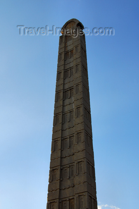 ethiopia391: Axum - Mehakelegnaw Zone, Tigray Region: Northern stelae field - King Ezana stela - photo by M.Torres - (c) Travel-Images.com - Stock Photography agency - Image Bank