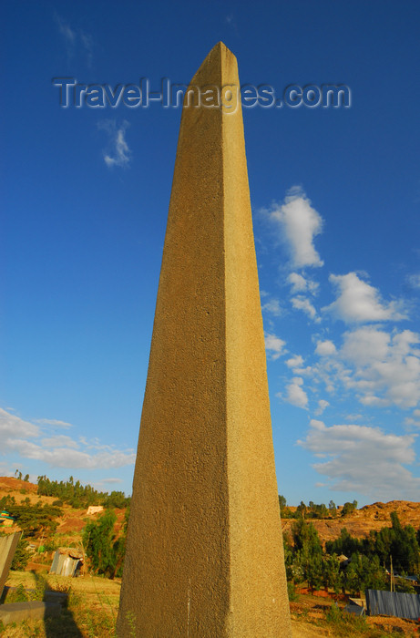 ethiopia397: Axum - Mehakelegnaw Zone, Tigray Region: - Northern stelae field - plain stele - obelisk - photo by M.Torres - (c) Travel-Images.com - Stock Photography agency - Image Bank