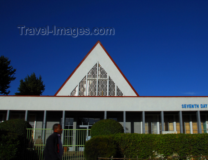 ethiopia4: Addis Ababa, Ethiopia: Seventh-day Adventist Church - Stadium Road - photo by M.Torres - (c) Travel-Images.com - Stock Photography agency - Image Bank