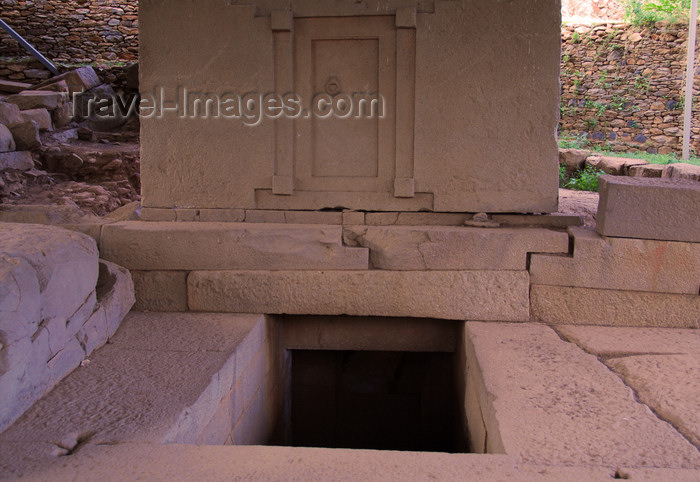 ethiopia401: Axum - Mehakelegnaw Zone, Tigray Region:  Tomb of the false door, known as the Tomb of King Remhai - Northern stelae field - photo by M.Torres - (c) Travel-Images.com - Stock Photography agency - Image Bank