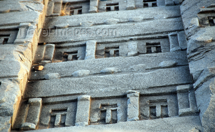 ethiopia404: Axum - Mehakelegnaw Zone, Tigray Region: Great Stele - detail of the 'windows' - Northern stelae field - photo by M.Torres - (c) Travel-Images.com - Stock Photography agency - Image Bank