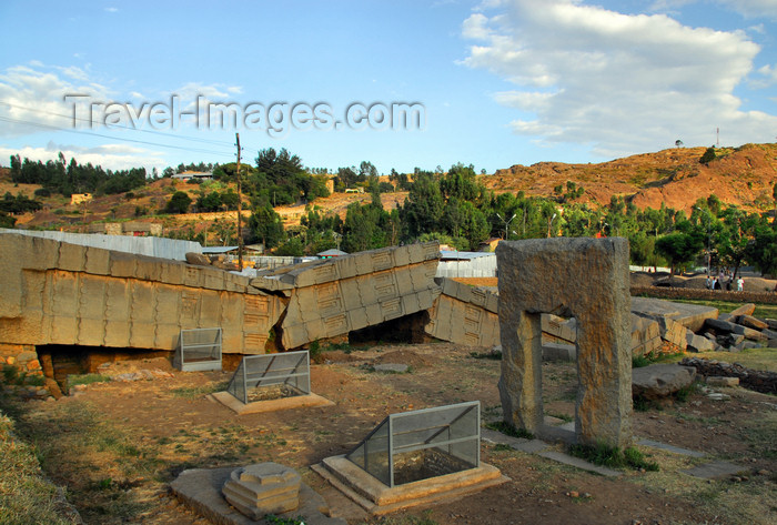 ethiopia405: Axum - Mehakelegnaw Zone, Tigray Region: Great stele and Mausoleum portal - Northern stelae field - photo by M.Torres - (c) Travel-Images.com - Stock Photography agency - Image Bank