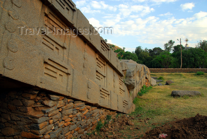 ethiopia406: Axum - Mehakelegnaw Zone, Tigray Region: the Great Stele lies on the ground - some times attributed to King Remhai - Northern stelae field - photo by M.Torres - (c) Travel-Images.com - Stock Photography agency - Image Bank