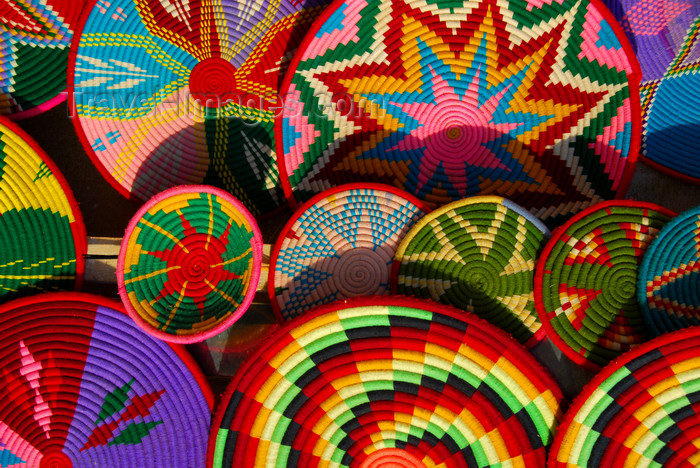 ethiopia409: Axum - Mehakelegnaw Zone, Tigray Region: colourful plate covers - Northern stelae field - photo by M.Torres - (c) Travel-Images.com - Stock Photography agency - Image Bank