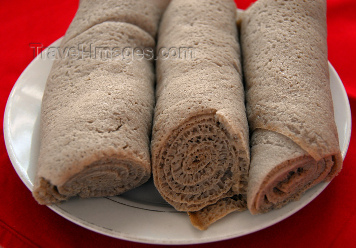 ethiopia425: Bahir Dar, Amhara, Ethiopia: rolled injera, the national staple, made from teff - photo by M.Torres - (c) Travel-Images.com - Stock Photography agency - Image Bank