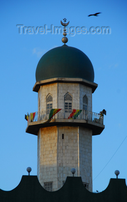 ethiopia43: Addis Ababa, Ethiopia: Anwar Mosque - small minaret - photo by M.Torres - (c) Travel-Images.com - Stock Photography agency - Image Bank