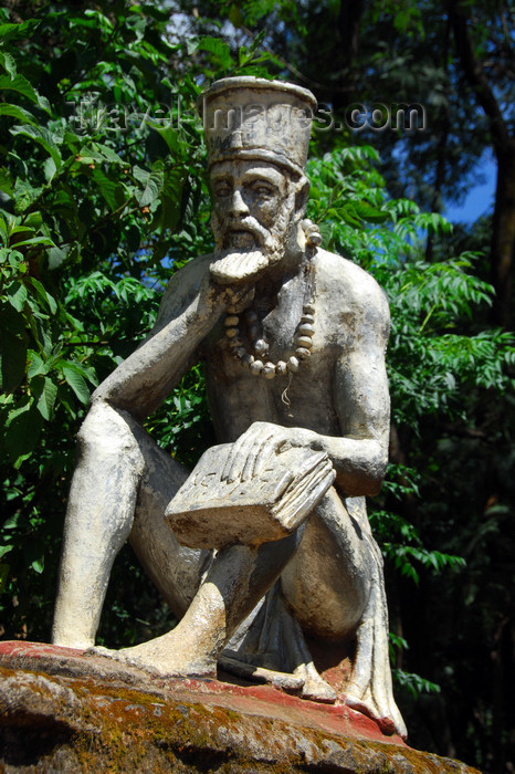 ethiopia430: Bahir Dar, Amhara, Ethiopia: statue sitting on the wall of St George Church - photo by M.Torres - (c) Travel-Images.com - Stock Photography agency - Image Bank