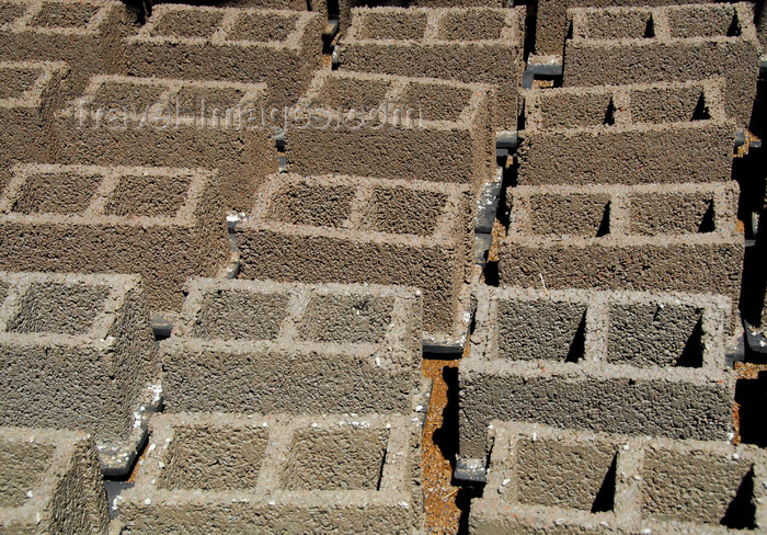 ethiopia434: Bahir Dar, Amhara, Ethiopia: cement bricks dry in the sun - photo by M.Torres - (c) Travel-Images.com - Stock Photography agency - Image Bank