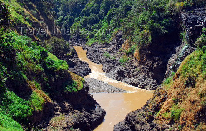 ethiopia446: Tis Issat, Amhara, Ethiopia: the Blue Nile / Abbay after the falls - considered holy in Ethiopia, believed to be the Gihon river mentioned in the Genesis  as flowing out of the Garden of Eden -  photo by M.Torres - (c) Travel-Images.com - Stock Photography agency - Image Bank