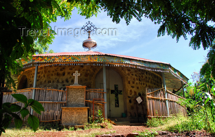 ethiopia452: Lake Tana, Amhara, Ethiopia: Entos Eyesu Monastery for nuns - the church - photo by M.Torres - (c) Travel-Images.com - Stock Photography agency - Image Bank