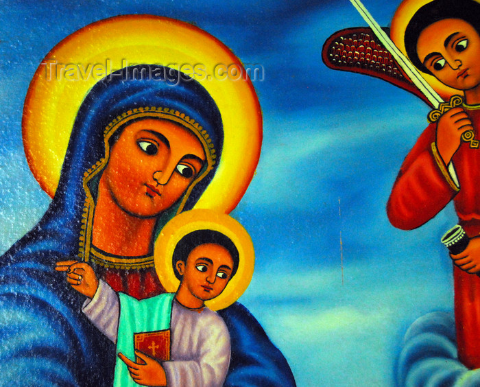 ethiopia459: Lake Tana, Amhara, Ethiopia: Entos Eyesu Monastery - Virgin Mary with baby Jesus - photo by M.Torres - (c) Travel-Images.com - Stock Photography agency - Image Bank