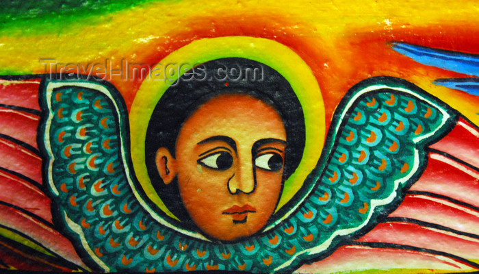 ethiopia461: Lake Tana, Amhara, Ethiopia: Entos Eyesu Monastery - Ethiopian angel - cherubim - photo by M.Torres - (c) Travel-Images.com - Stock Photography agency - Image Bank