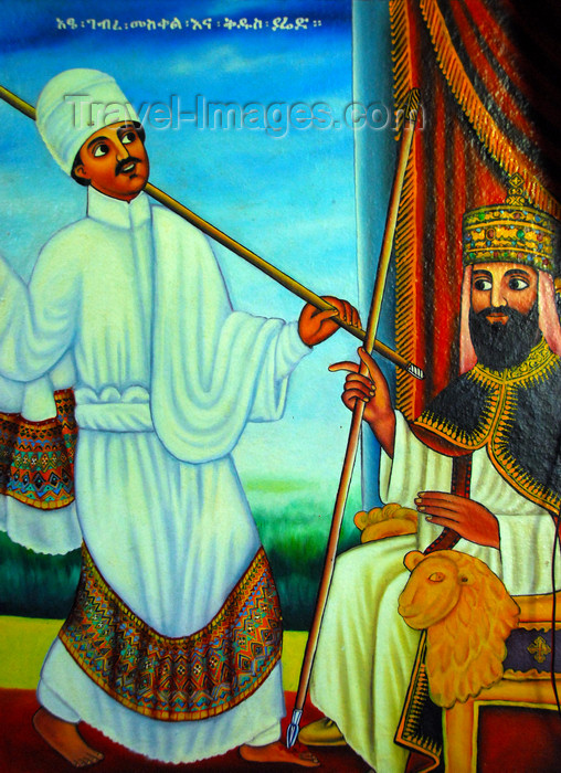 ethiopia466: Lake Tana, Amhara, Ethiopia: Entos Eyesu Monastery - the king in his throne - photo by M.Torres - (c) Travel-Images.com - Stock Photography agency - Image Bank