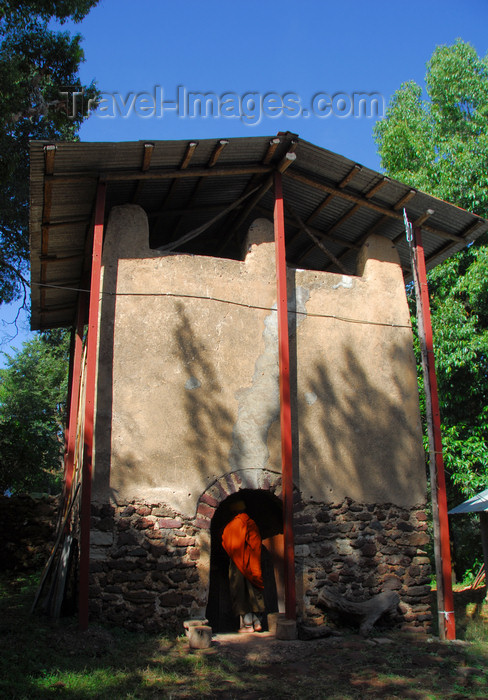 ethiopia476: Lake Tana, Amhara, Ethiopia: Kebran Gabriel Monastery - old watch tower, now the museum - photo by M.Torres  - (c) Travel-Images.com - Stock Photography agency - Image Bank