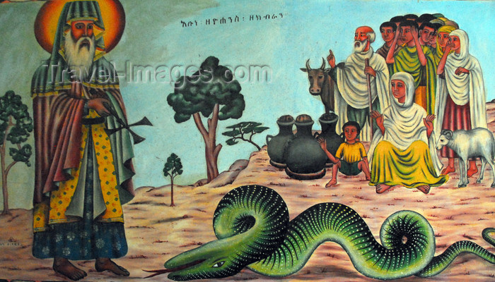 ethiopia482: Lake Tana, Amhara, Ethiopia: Kebran Gabriel Monastery - dead serpent - photo by M.Torres  - (c) Travel-Images.com - Stock Photography agency - Image Bank