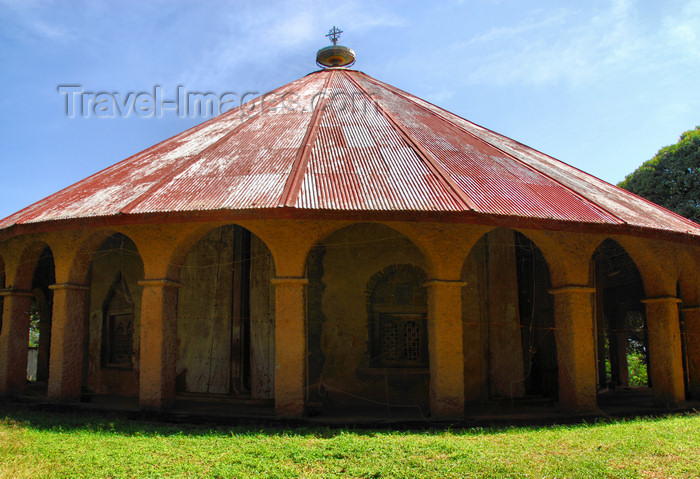 ethiopia488: Lake Tana, Amhara, Ethiopia: Kebran Gabriel Monastery - circular church - photo by M.Torres  - (c) Travel-Images.com - Stock Photography agency - Image Bank