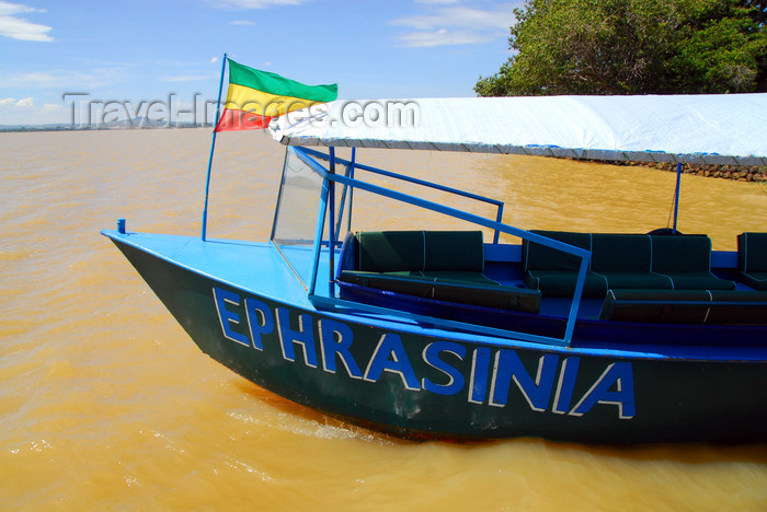 ethiopia491: Lake Tana, Amhara, Ethiopia: Kebran Gabriel Monastery - Ephrasinia - boat in the pier - photo by M.Torres  - (c) Travel-Images.com - Stock Photography agency - Image Bank