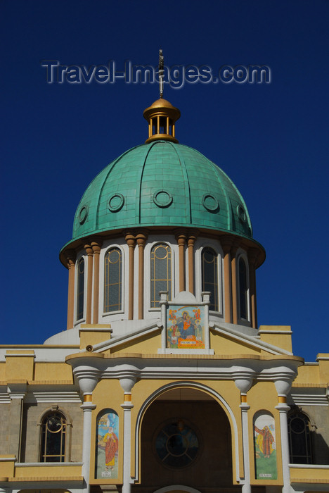ethiopia51: Addis Ababa, Ethiopia: Bole Medhane Alem Cathedral - dome - SW view - photo by M.Torres - (c) Travel-Images.com - Stock Photography agency - Image Bank