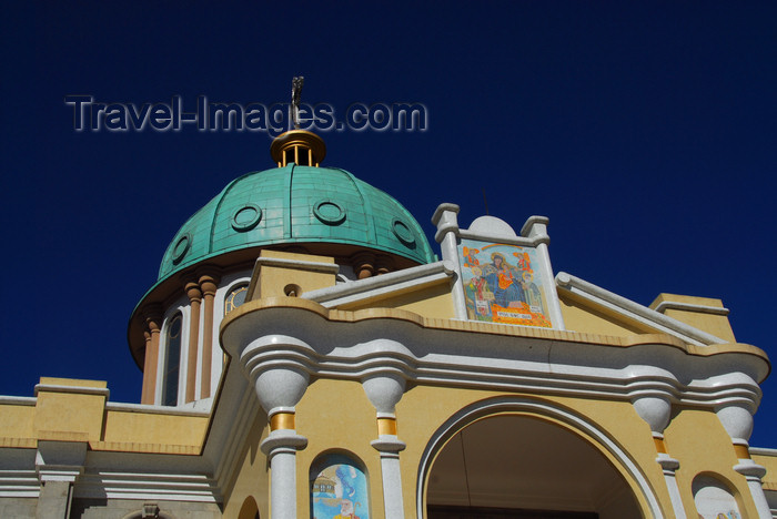 ethiopia53: Addis Ababa, Ethiopia: Bole Medhane Alem Cathedral - dome and SW porch - photo by M.Torres - (c) Travel-Images.com - Stock Photography agency - Image Bank