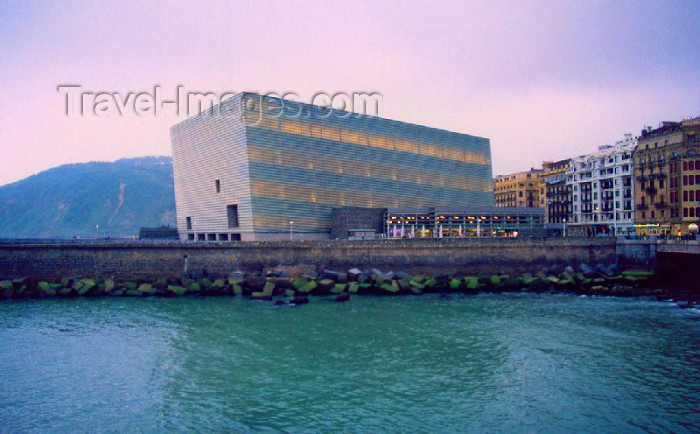 eusk15: Basque Country / Pais Vasco / Euskadi - Donostia / San Sebastian - Gipuzkoa province: Kursaal Palace - imperfect cube on the Urumea - photo by M.Torres - (c) Travel-Images.com - Stock Photography agency - Image Bank