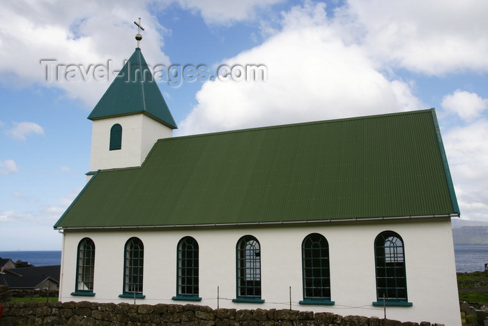 faeroe20: Gjógv village, Eysturoy island, Faroes: the first church to feature services in the Faroese language - built in 1929 - photo by A.Ferrari - (c) Travel-Images.com - Stock Photography agency - Image Bank