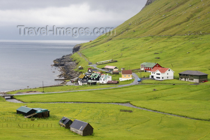 faeroe24: Elduvik village, Eysturoy island, Faroes: seen from the hills - photo by A.Ferrari - (c) Travel-Images.com - Stock Photography agency - Image Bank
