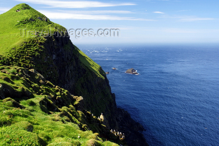 faeroe41: Mykines island, Faroes: cliffs of the north coast - Sørvágs municipality - photo by A.Ferrari - (c) Travel-Images.com - Stock Photography agency - Image Bank