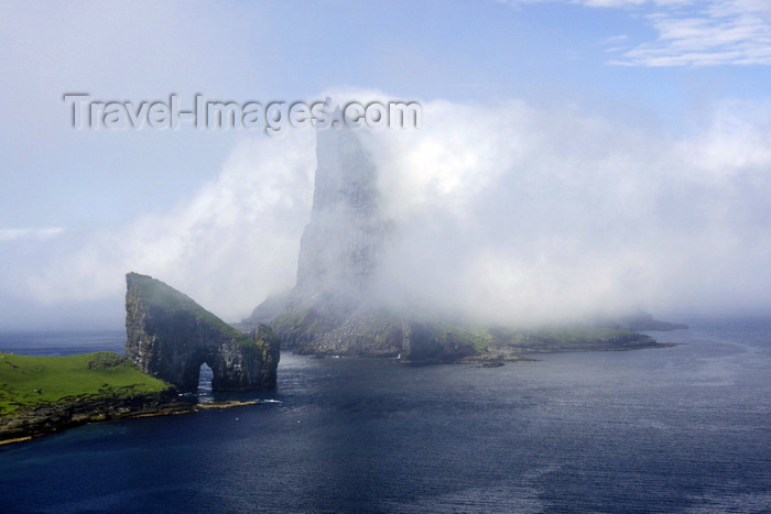 faeroe75: Vágar island, Faroes: Dranganir sea stacks and Tindholmur islet under a blanket of clouds - photo by A.Ferrari - (c) Travel-Images.com - Stock Photography agency - Image Bank