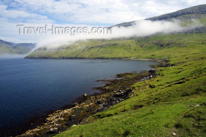 faeroe81: Sørvágsfjørður fjord, Vágar island, Faroes: fog frames the hills - photo by A.Ferrari - (c) Travel-Images.com - Stock Photography agency - Image Bank