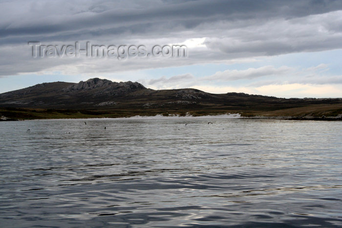 falkland51: Falkland islands - East Falkland - Berkeley Sound - rock formations - photo by Christophe Breschi - (c) Travel-Images.com - Stock Photography agency - Image Bank