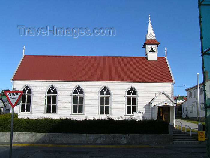 falkland58: Falkland islands / Ilhas Malvinas - East Falkland: Stanley / Puerto Argentino - St Mary's Catholic church - Ross Road - photo by Captain Peter - (c) Travel-Images.com - Stock Photography agency - Image Bank